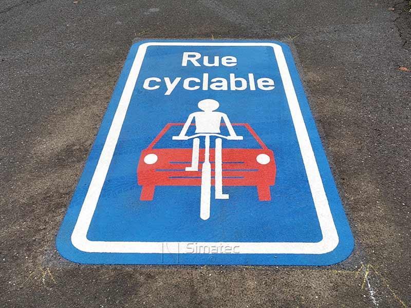 Logo rue cyclable